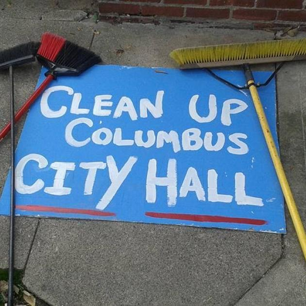 Clean up City Hall sign