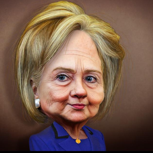 Hilary cartoon