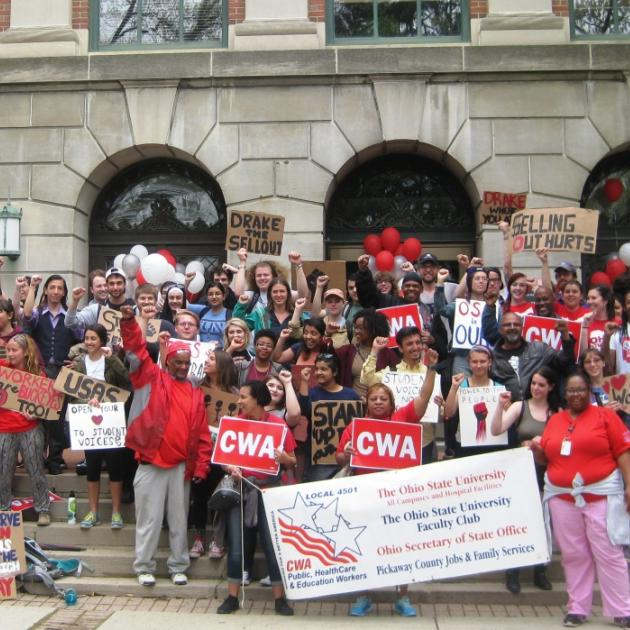 On April 21 students and workers held a rally outside the office of OSU president Michael Drake to demand an end to the university's efforts to privatize its workforce and energy system.