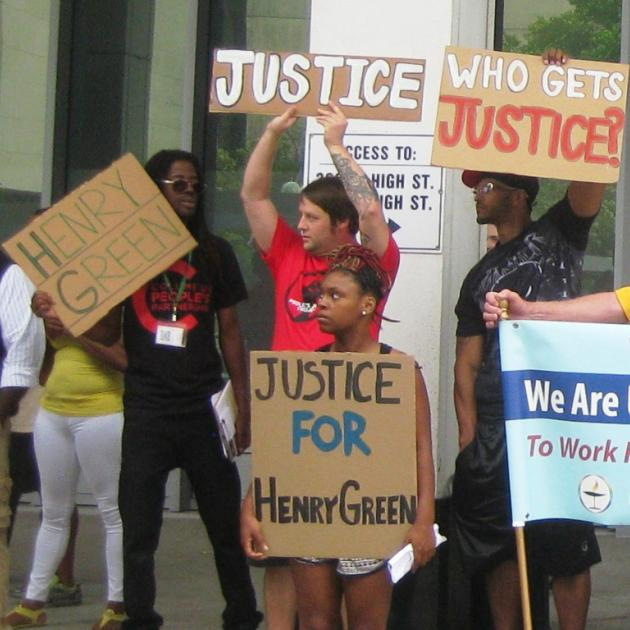 On June 15 protesters demanded an independent investigation of the killing of Henry Green, a 23-year-old black man, at the hands of Columbus police.