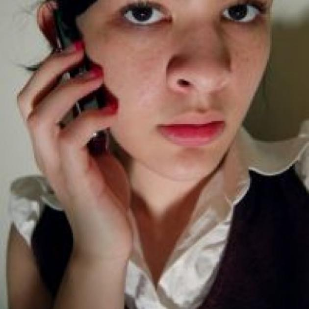 Young person on cell phone