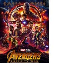 Movie poster filled with superheroes and the word Avengers