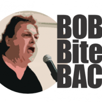 Bob's face and logo