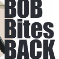 Words in black Bob Bites Back