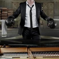 Ben Folds singer wearing boxing gloves