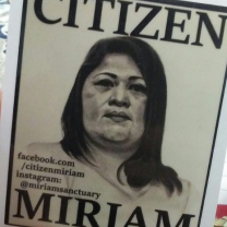 Picture of Miriam Vargas and words Citizen Miriam
