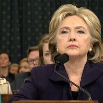 Hillary Clinton looking angry at Congressional hearing
