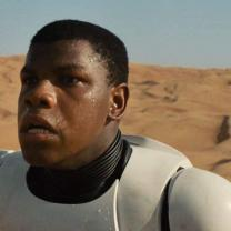 Star Wars character John Boyega in space suit