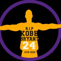 Drawing of Kobe Bryant and words R.I.P Kobe Bryant