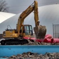 Demolition at site
