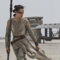 Female Star Wars character walking