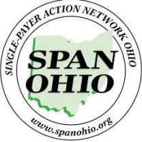 SPAN-OHIO in a circle with the words Single-Payer Action Network Ohio