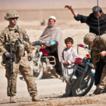 US troops and Taliban in Afghanistan