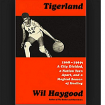 Orange and black book cover that says Tigerland Wil Haygood