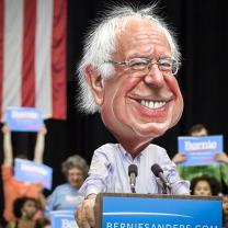 Cartoon of Bernie Sanders