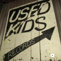Used Kids Records Sign