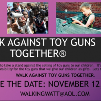 Poster about walk against toy guns