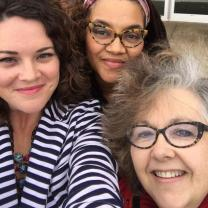 Three women, two white, one black