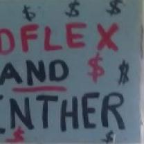 Sign reading Redflex and Ginther