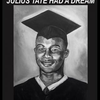 Black man in a graduation hat
