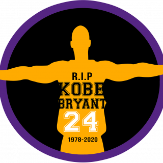 Drawing of Kobe Bryant and words R.I.P Kobe Bryant