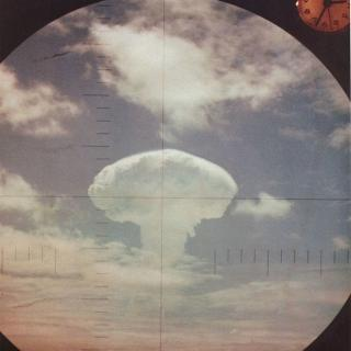 Mushroom cloud in a circle