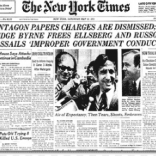 New York Times with headline about Pentagon Papers