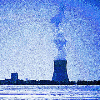 Nuke plant spewing smoke