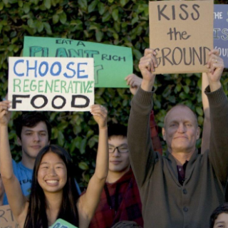 People holding signs