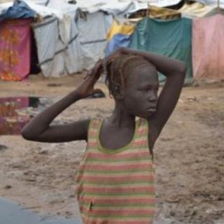 Refugee girl
