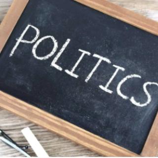 Politics written on a chalkboard