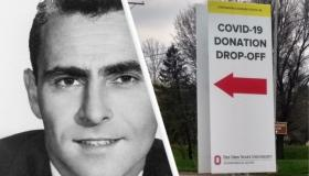 Rod Serling and PPE drop off donation center