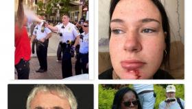 Collage of photos about the protests