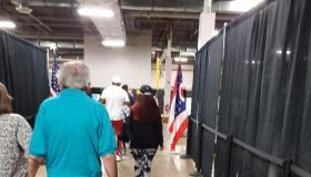 Inside polling place